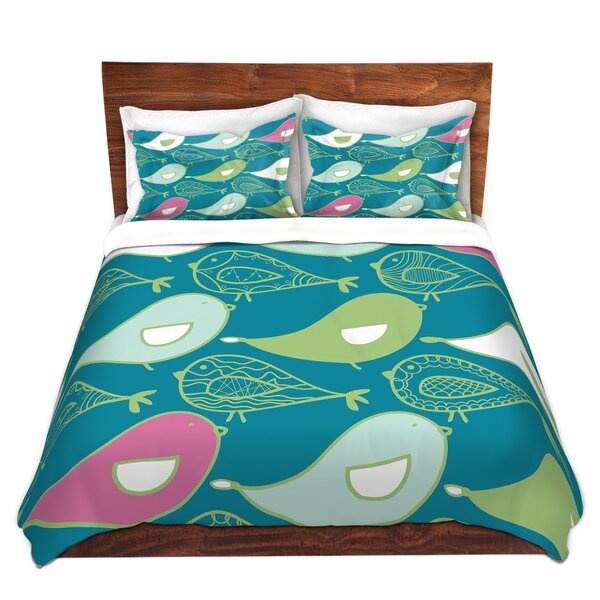 Haltwhistle Traci Nichole Design Studio Birds Of A Feather Blue Jay Microfiber Duvet Covers