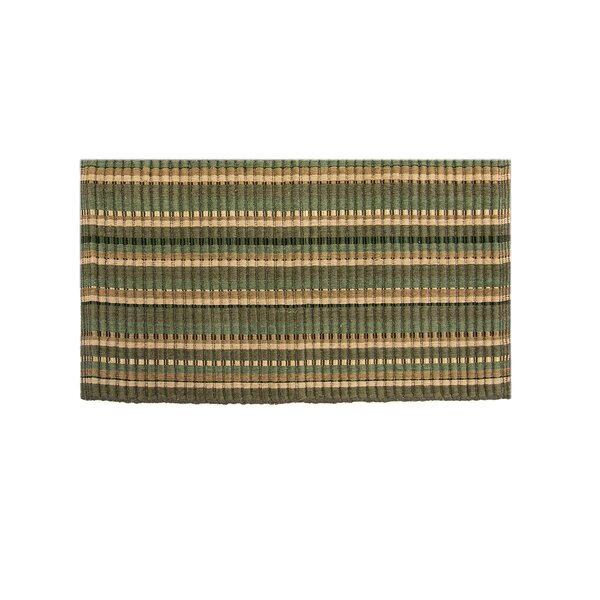Baldock Silk Ribbed Hand-Woven Dark Green Area Rug by Winston Porter