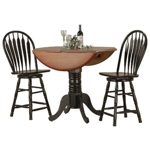 Copernicus 3 Piece Pub Table Set by Loon Peak