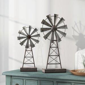 Gobert Windmill 2 Piece Sculpture Set