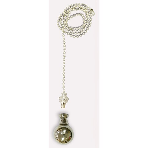 Large Ball Finial Fan Pull Chain by Royal Designs