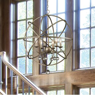 Big Save Leonora 6-Light Globe Chandelier By Rosdorf Park