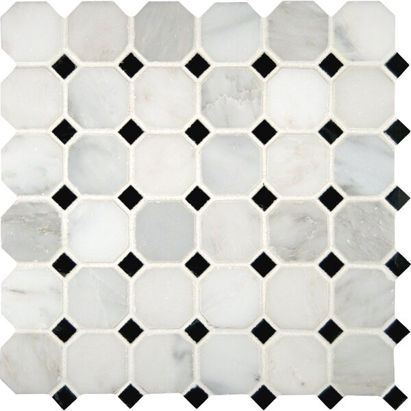 Greecian 2 x 2 Marble Mosaic Tile in White by MSI