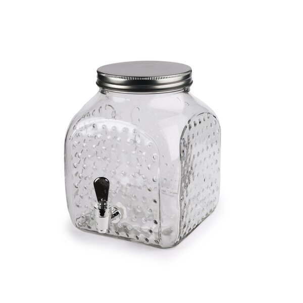 Kells-Connor Hobnail Square Bottom 161 oz. Beverage Dispenser by Gracie Oaks