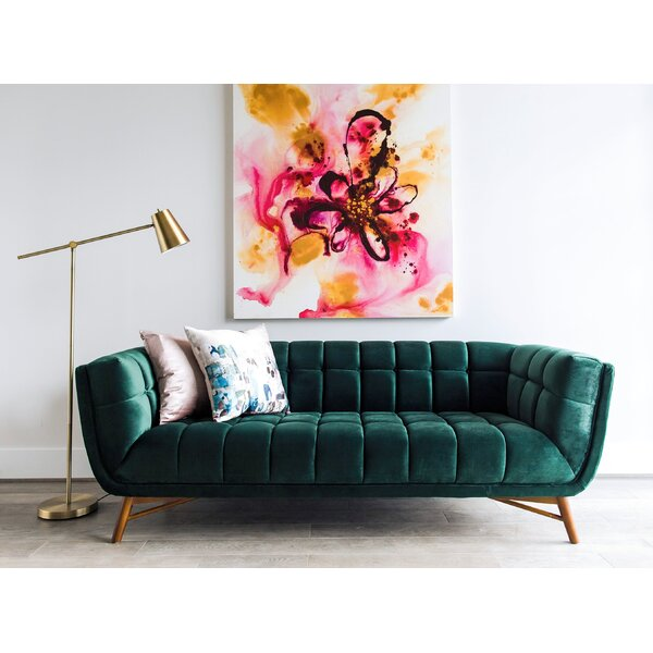 Clarisse Mid-Century Modern Chesterfield Sofa by Everly Quinn