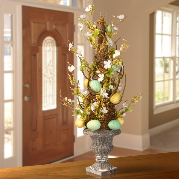 Easter Potted Cone Topiary in Urn by National Tree Co.