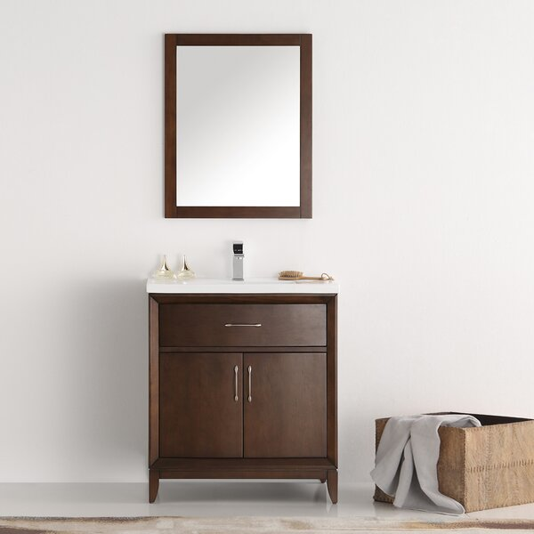 Cambridge 30 Single Bathroom Vanity with Mirror by Fresca