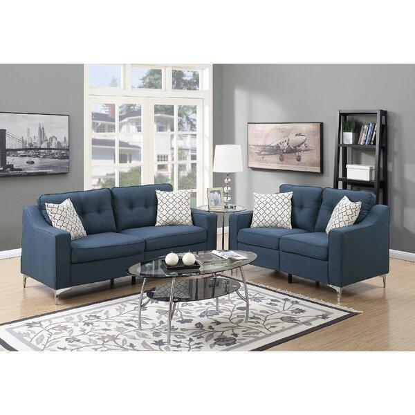 Hodgkins 2 Piece Living Room Set by Mercer41