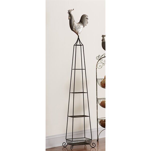 Rooster 4-Tier Etagere Bookcase by Melrose International