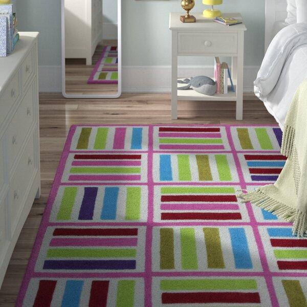 Kaylee Ivory/Pink Elements Area Rug by Viv + Rae