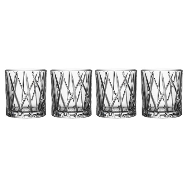 City Old Fashioned 8 oz. Crystal Cocktail Glass (Set of 4) by Orrefors