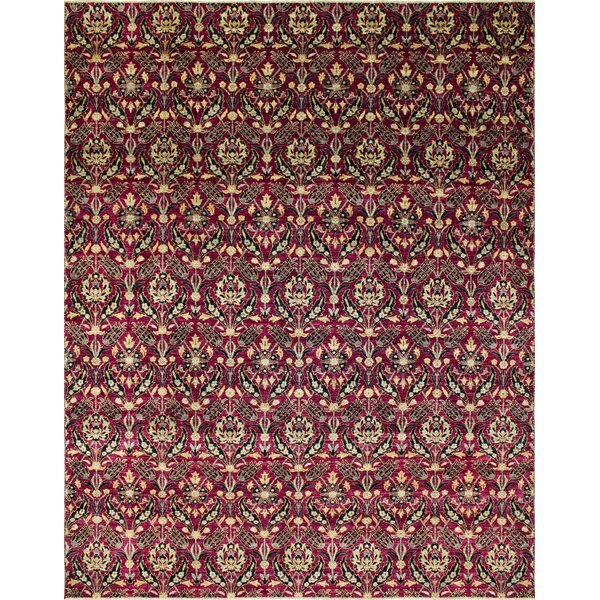 One-of-a-Kind Montague Hand-Knotted Purple Area Rug by Astoria Grand