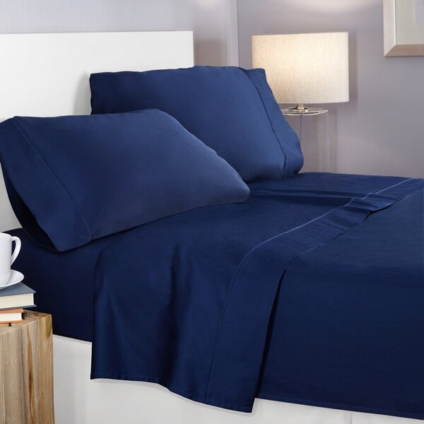 400 Thread Count Egyptian-Quality Cotton Sheet Set by Clara Clark
