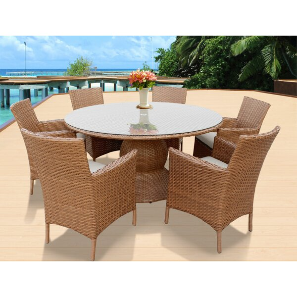 Waterbury Patio 7 Piece Dining Set with Cushions by Sol 72 Outdoor
