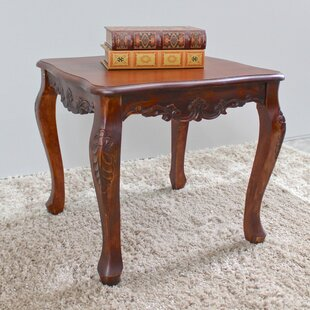 Charmant Barron Hand Carved End Table