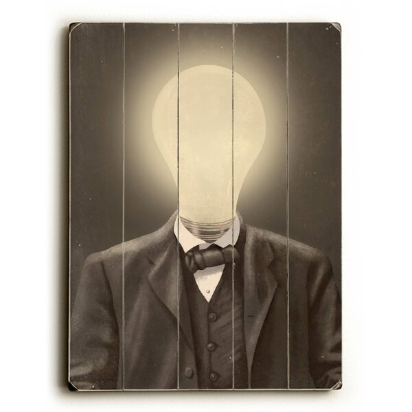 Idea Man Graphic Art Print Multi-Piece Image on Wood by Artehouse LLC