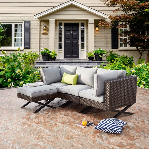Rimersburg Patio Sectional with Cushions by Latitude Run