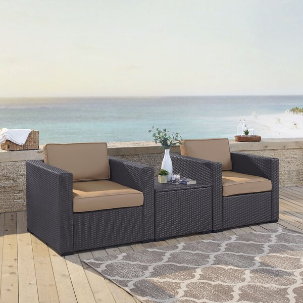 Seaton 3 Piece Conversation Set with Cushions by Sol 72 Outdoor