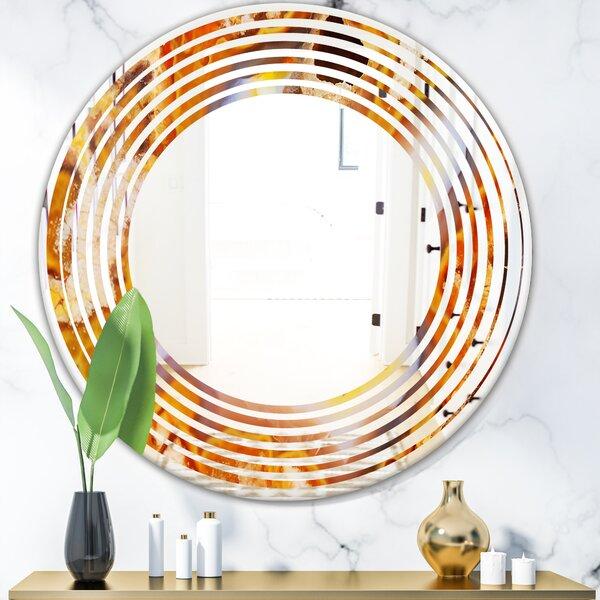 Wave Fire Crystals Modern Frameless Wall Mirror