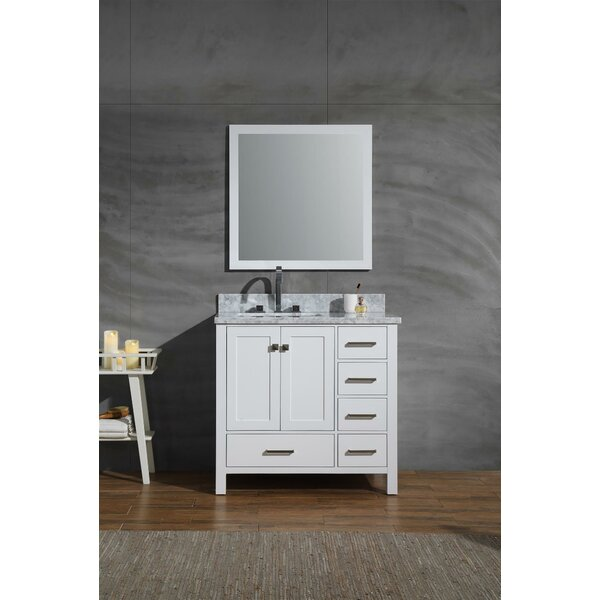 Harewood 37 Single Bathroom Vanity Set with Mirror by Andover Mills
