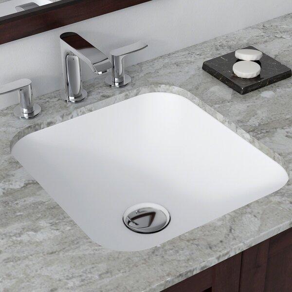 Natura™ Square Undermount Bathroom Sink by Kraus