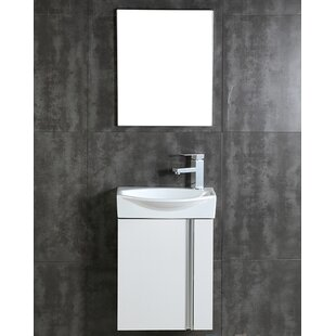 Compacto 16.34 Single Bathroom Vanity Set with Mirror