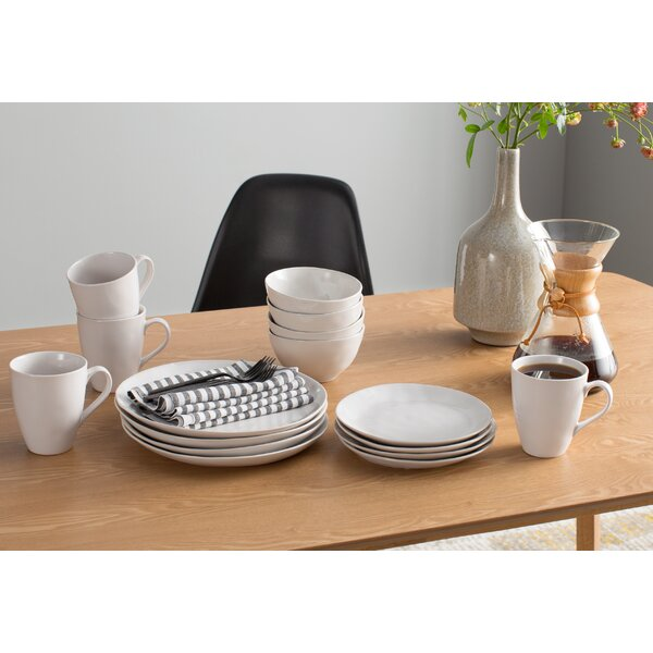 Colebrook 16 Piece Dinnerware Set, Service for 4 by Beachcrest Home