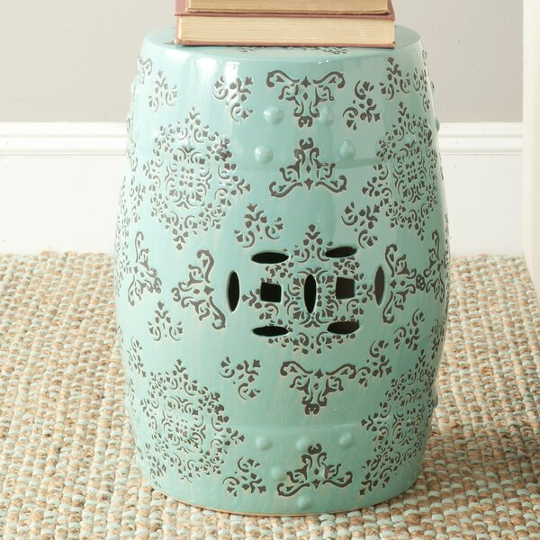 Medallion Ceramic Garden Stool by Safavieh Safavieh