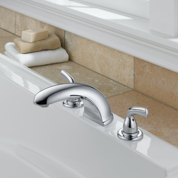 Foundations Double Handle Deck Mount Roman Tub Faucet Trim by Delta