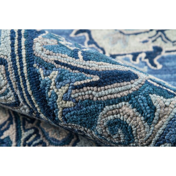 Lancaster Hand-Tufted Wool Denim Area Rug by World Menagerie