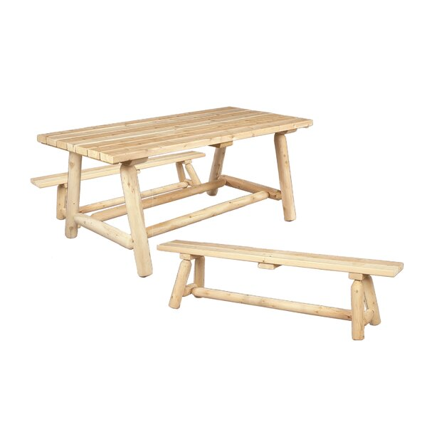 Classic Cedar Dining Table Set by Rustic Natural Cedar Furniture