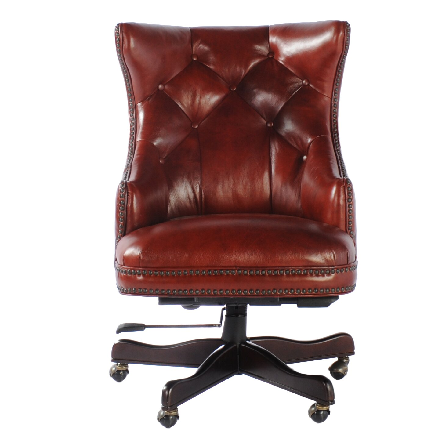 Tan leather office chair - Obama Leather Executive Chair