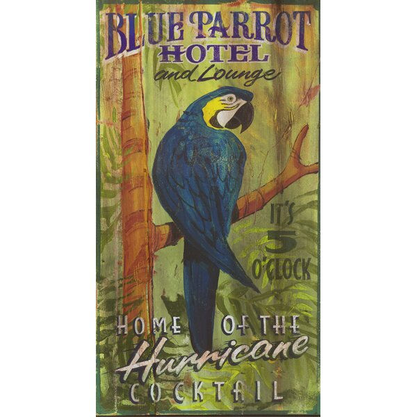 Blue Parrot Vintage Advertisement Plaque by Bay Isle Home