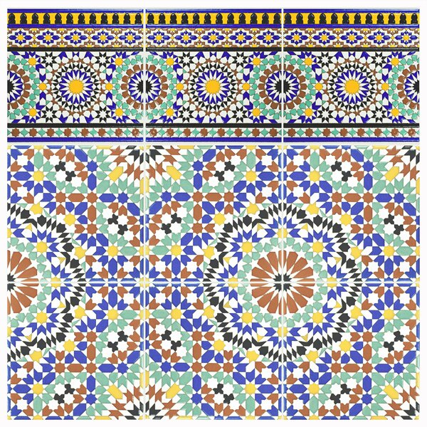 Hispalis 8 x 8 Ceramic Field Tile in Blue/Green by EliteTile