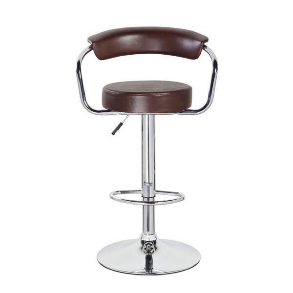 Levick Adjustable Height Swivel Bar Stool by Orren Ellis
