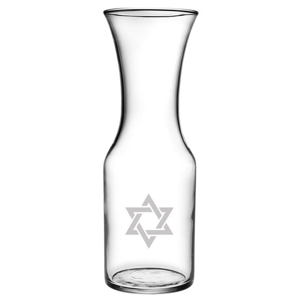 Star of David Liter Carafe by Susquehanna Glass