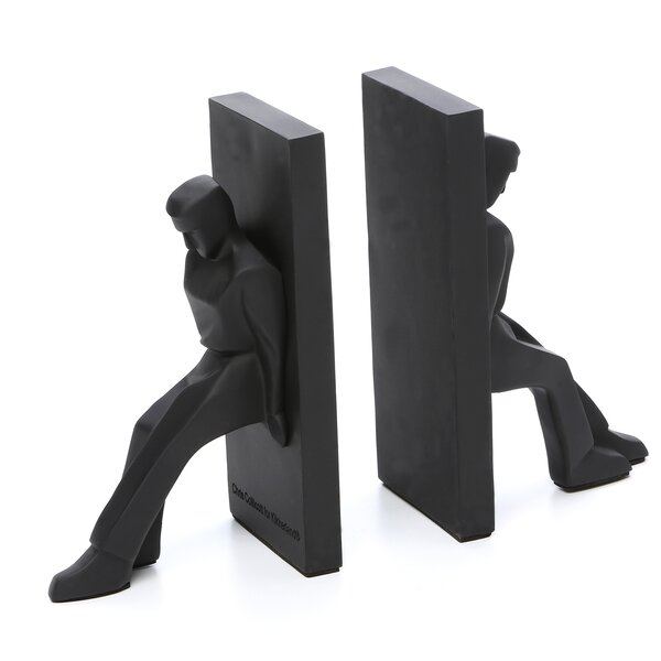Statue Book Ends (Set of 2) by Wrought Studio