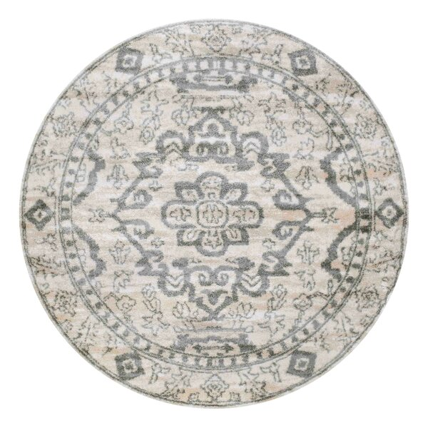 Barth Bone/Ivory Area Rug by Bungalow Rose