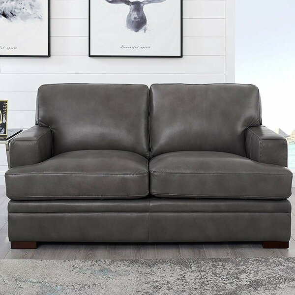 Werner Leather Loveseat By 17 Stories