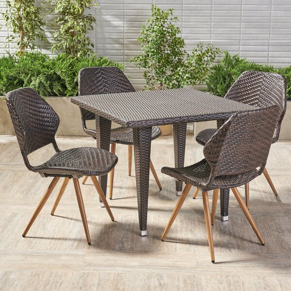 Noah Outdoor 5 Piece Dining Set by George Oliver