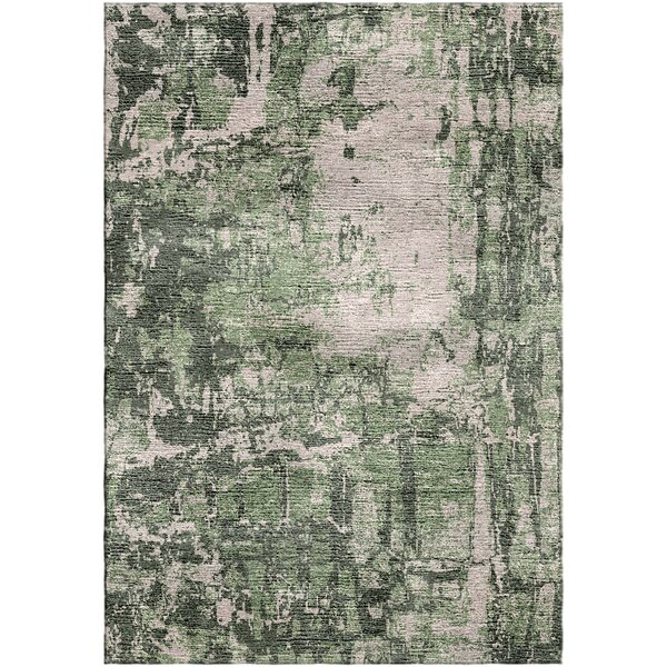 Ashford Handloom Green/Gray Area Rug by Ivy Bronx