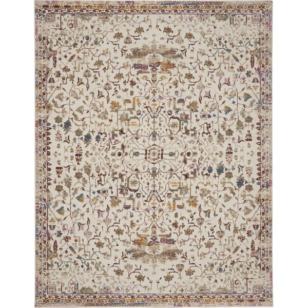 Babson Traditional Oriental Ivory/Sage Area Rug