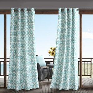 Barrows Outdoor Semi Sheer Single Curtain Panel