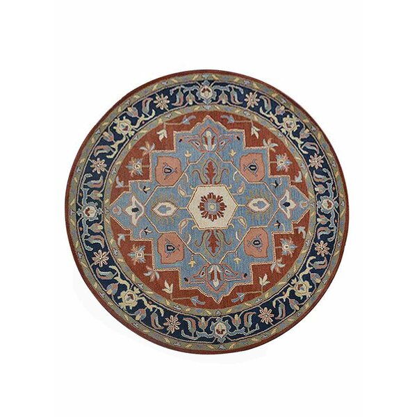 Hetzel Hand-Tufted Wool/Cotton Light Blue Area Rug by Bloomsbury Market