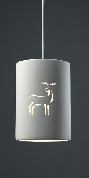Sandpiper 1 Light Cylinder Pendant by Bay Isle Home
