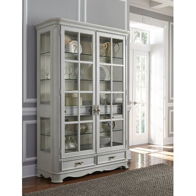 One Allium Way Painted Curio Cabinet China Cabinet