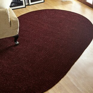 Check Prices Chenille Reversible Dark Red Indoor/Outdoor Area Rug By Better Trends
