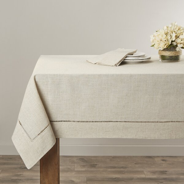 Kitt Hemstitched Tablecloth by Laurel Foundry Mode