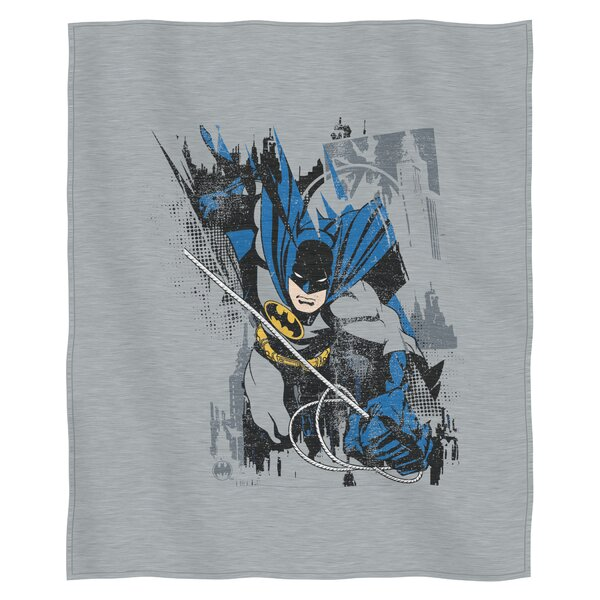 Batman Bat Jump Polyester Throw by Northwest Co.