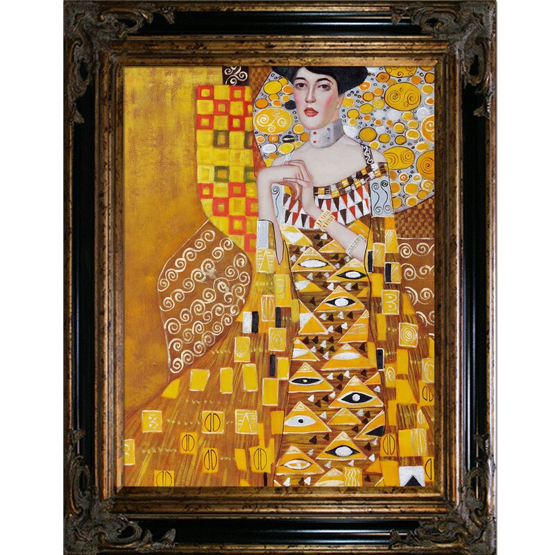 Portrait of Adele Bloch Bauer 1 by Gustav Klimt Giclee Reproduction on Canvas